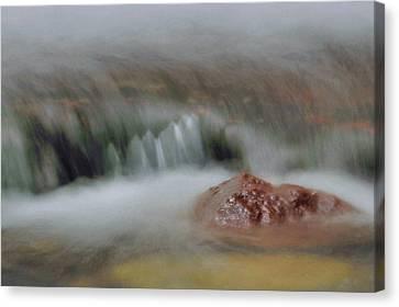 Water Movement Detail 8 Canvas Print by Stephen  Vecchiotti