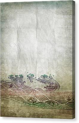 Water Pattern On Old Paper Canvas Print by Setsiri Silapasuwanchai