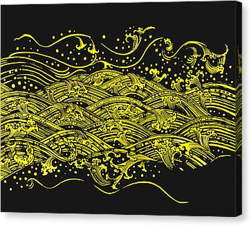Water Pattern Canvas Print by Setsiri Silapasuwanchai