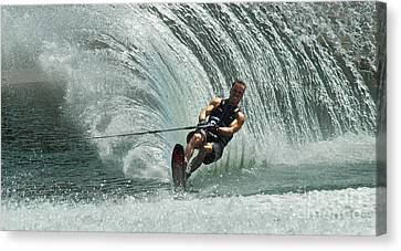 Water Skiing Magic Of Water 10 Canvas Print by Bob Christopher