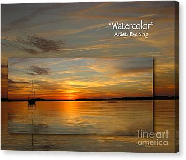 Watercolor Canvas Print by Judee Stalmack