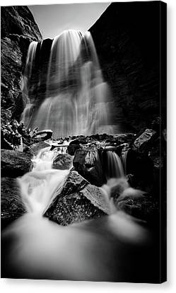 Waterfall Down The Mountains Canvas Print by © Francois Marclay