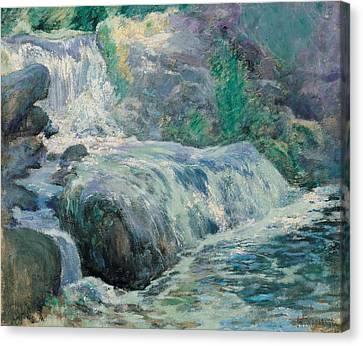 Waterfall Canvas Print by John Henry Twachman