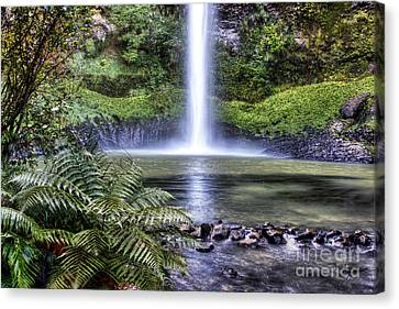 Waterfall Canvas Print by Les Cunliffe