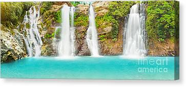Waterfall Panorama Canvas Print by MotHaiBaPhoto Prints