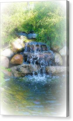 Waterfall Canvas Print by Rebecca Frank