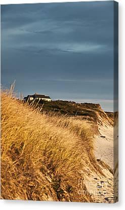 Waterfront Beach Cottage Canvas Print by John Greim