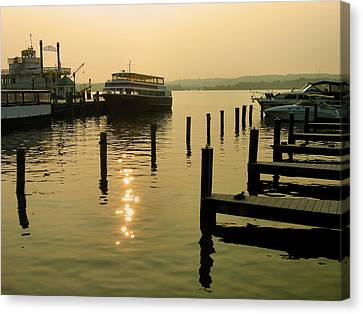 Waterfront Docks Canvas Print by Steven Ainsworth