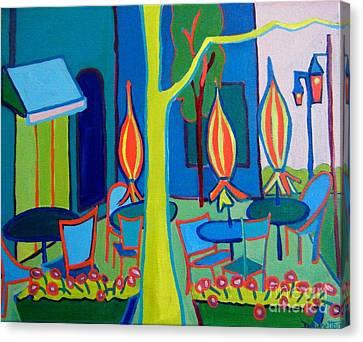 Watertown Cafe Canvas Print by Debra Bretton Robinson