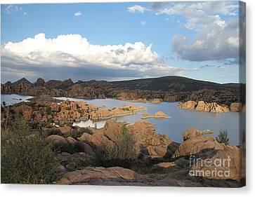 Watson Lake 2 Canvas Print by Diane Greco-Lesser