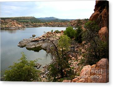 Watson Lake 2 Canvas Print by Julie Lueders