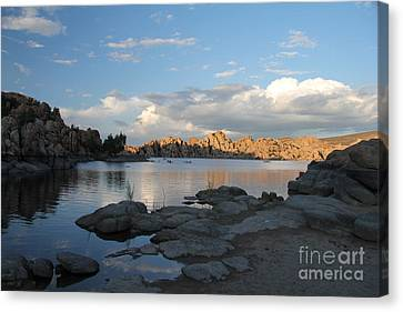 Watson Lake 5  Canvas Print by Diane Greco-Lesser