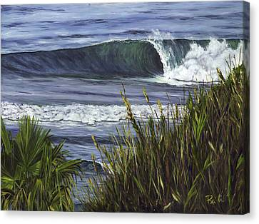 Wave 4 Canvas Print by Lisa Reinhardt