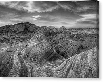 Wave Monochrome Canvas Print by Stephen Campbell