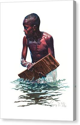 Wave Rider Canvas Print by Gregory Jules