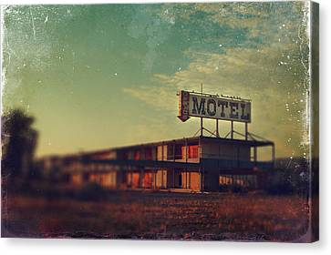 We Met At The Old Motel Canvas Print by Laurie Search
