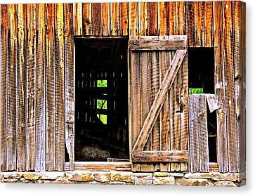 Weathered Barn Door Canvas Print by Marty Koch