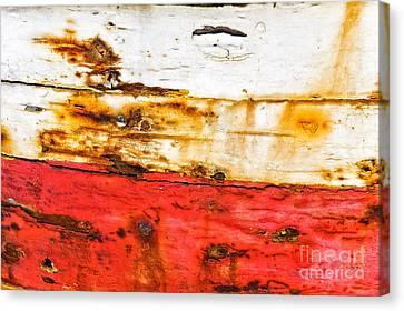 Weathered With Red Stripe Canvas Print by Silvia Ganora