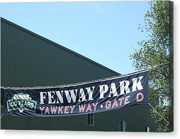 Welcome To Fenway Park Canvas Print by Stephen Melcher
