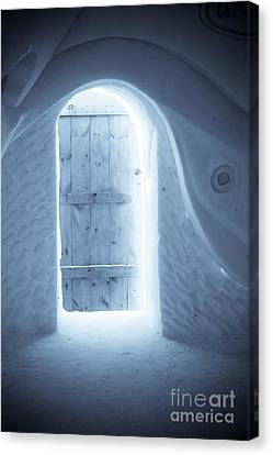 Welcome To The Ice Hotel Canvas Print by Sophie Vigneault