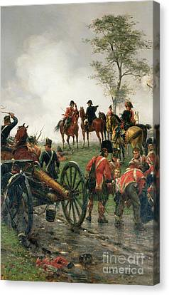 Wellington At Waterloo Canvas Print by Ernest Crofts