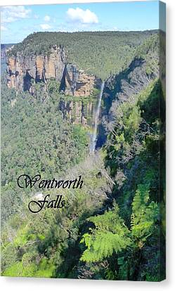 Wentworth Falls Canvas Print by Carla Parris