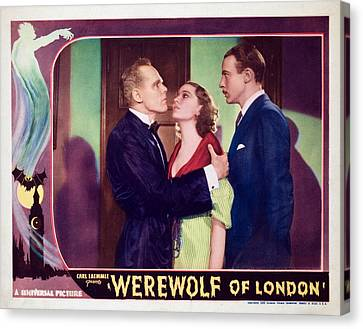 Werewolf Of London, Henry Hull, Valerie Canvas Print by Everett