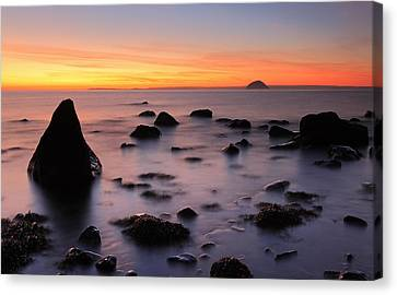 West Coast Sunset Canvas Print by Grant Glendinning