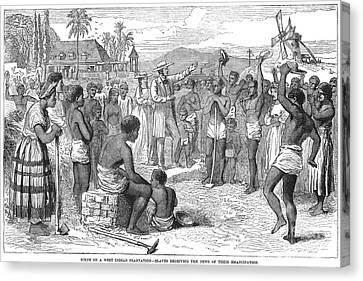 West Indies: Emancipation Canvas Print by Granger