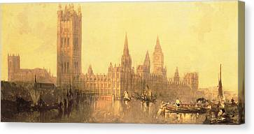 Westminster Houses Of Parliament Canvas Print by David Roberts