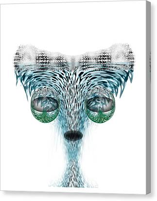 Wet Alien Canvas Print by Christohper Gaston