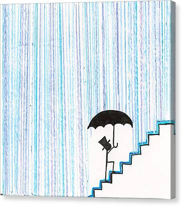 Wet Feet Freak Out Canvas Print by Candace Fowler
