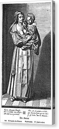 Wet Nurse, 17th Century Canvas Print by Granger