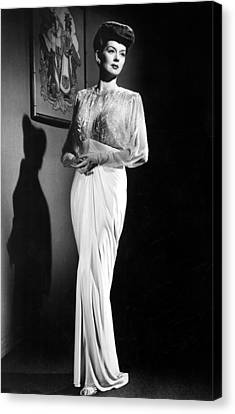 What A Woman, Rosalind Russell Wearing Canvas Print by Everett