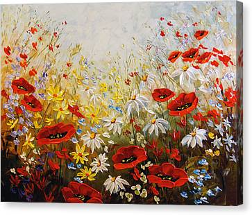 What A Wonderful Day Canvas Print by Irena Sherstyuk