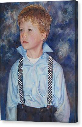 Blue Boy Canvas Print by Mary Wykes