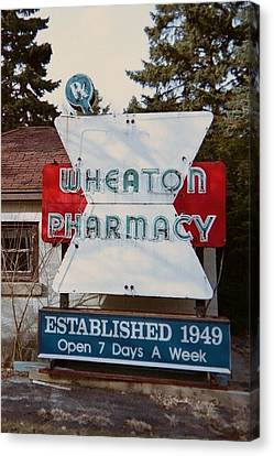 Wheaton Pharmacy Canvas Print by Todd Sherlock