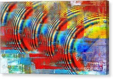 When Echo Rings Canvas Print by Fania Simon