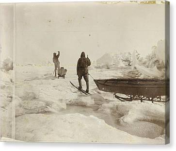 When The Fram Did Not Reach The North Canvas Print by Fridtjof Nansen