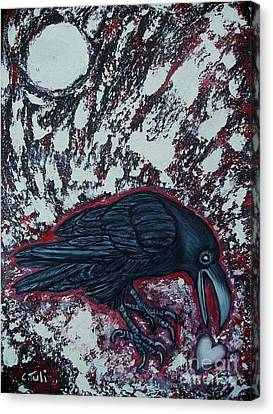 When The Raven Returned The Light Canvas Print by Claudia Tuli