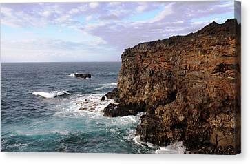 Where Land Meets Sea Canvas Print by Luis and Paula Lopez