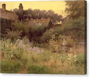 Where The Forgotten Garden Lies Asleep Canvas Print by Georgina M de l Aubiniere