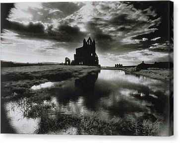 Whitby Abbey Canvas Print by Simon Marsden