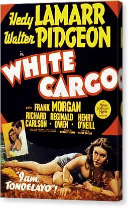 White Cargo, Hedy Lamarr, Richard Canvas Print by Everett