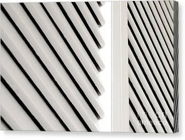 White Closet Door Detail Canvas Print by Blink Images