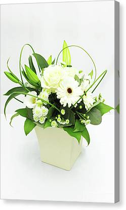 White Flower Bouquet Canvas Print by © S.Musgrove