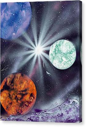 White Star Burst Canvas Print by Marc Chambers