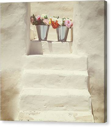 White Steps Canvas Print by Joana Kruse