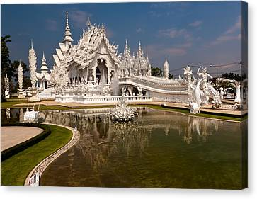 White Temple Canvas Print by Adrian Evans