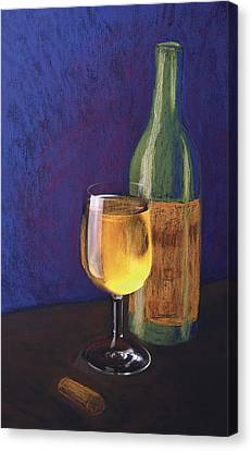 White Wine Canvas Print by Garry McMichael